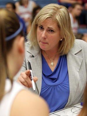 Hillcrest girls basketball coach Jeni Hopkins.