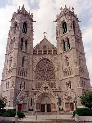 The French Gothic Cathedral Basilica of the Sacred Heart in Newark, N.J., shown June 9, 1999,