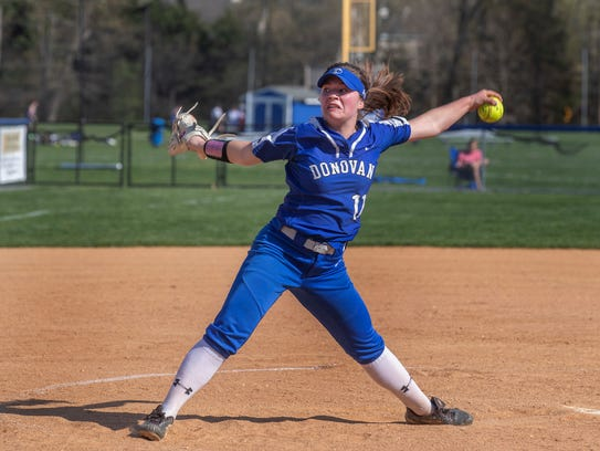 Donovan Catholic pitcher Lindsay Nelson. Donovan Catholic