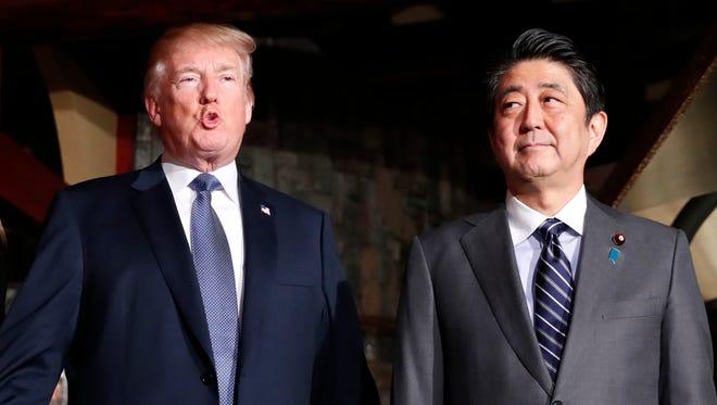 President Trump and Japanese Prime Minister Shinzo Abe.