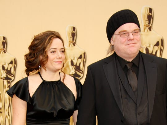 Philip Seymour Hoffman and Mimi O'Donnell attend the