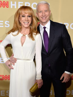 Kathy Griffin and Anderson Cooper attend the 2014 CNN Heroes: An All Star Tribute at American Museum of Natural History on Nov. 18, 2014 in New York.