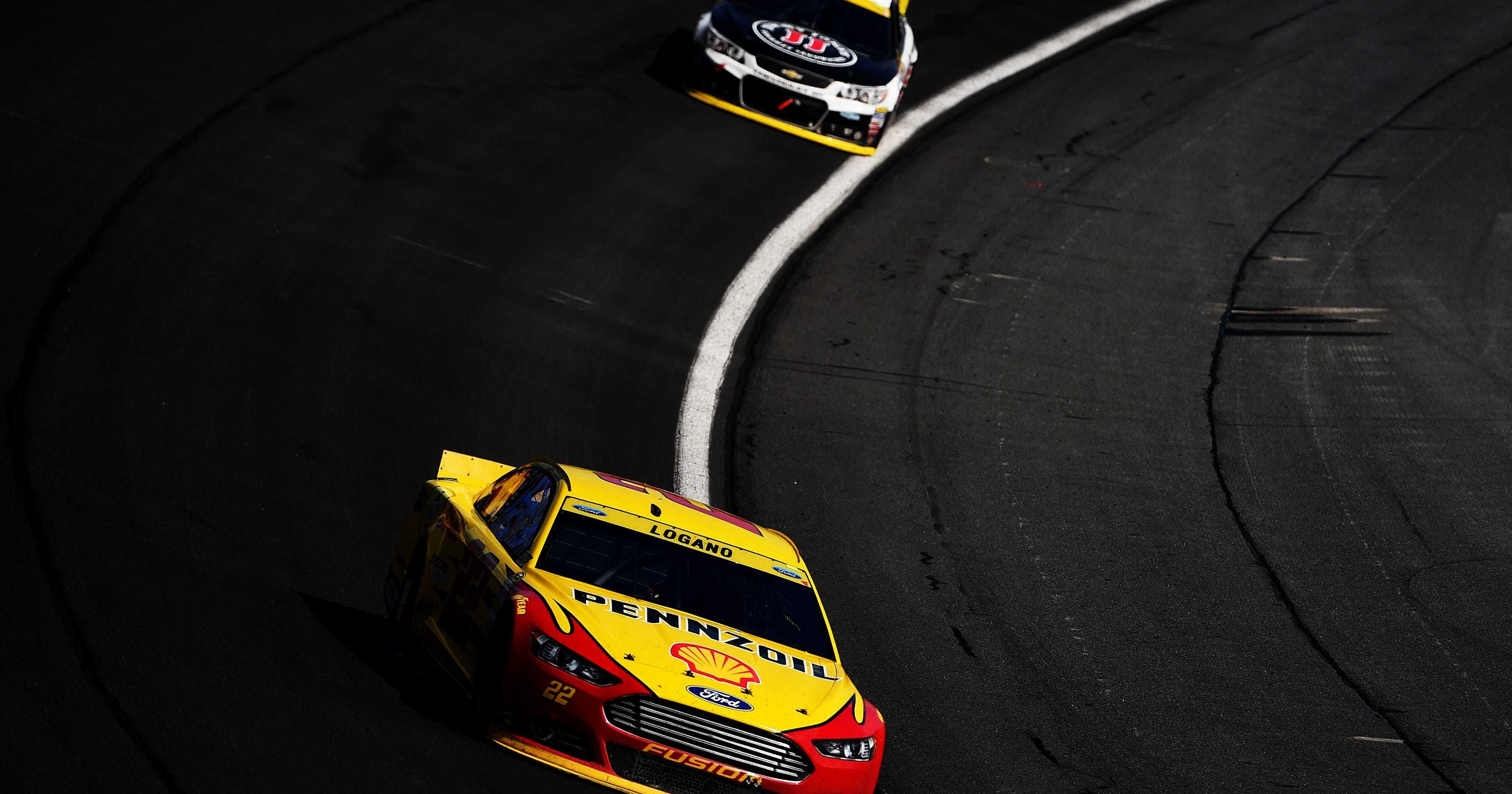 Joey logano wins bank of america 500 for Charlotte motor speedway zip code