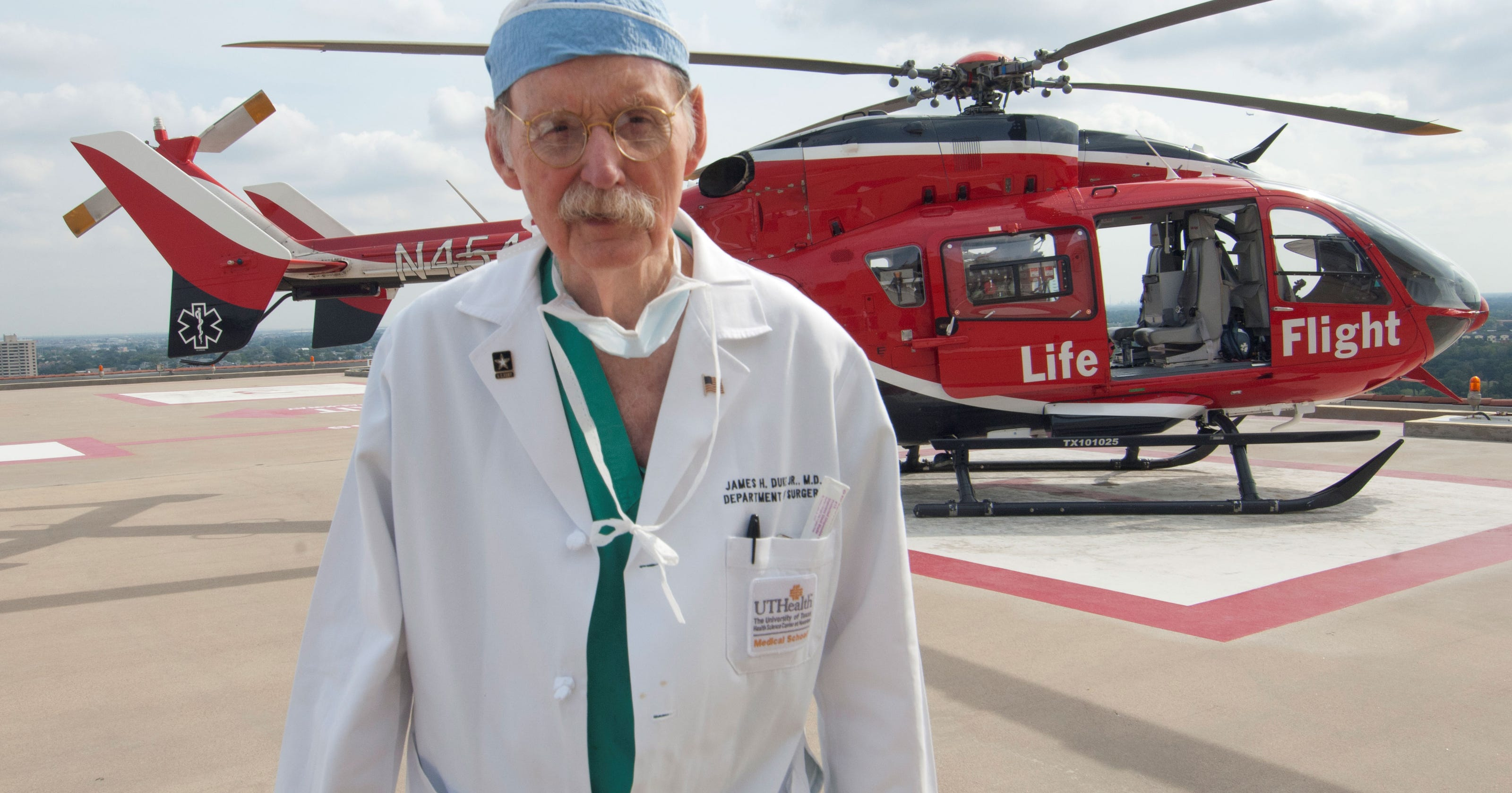 Famed Texas surgeon Dr  James 'Red' Duke dies at 86