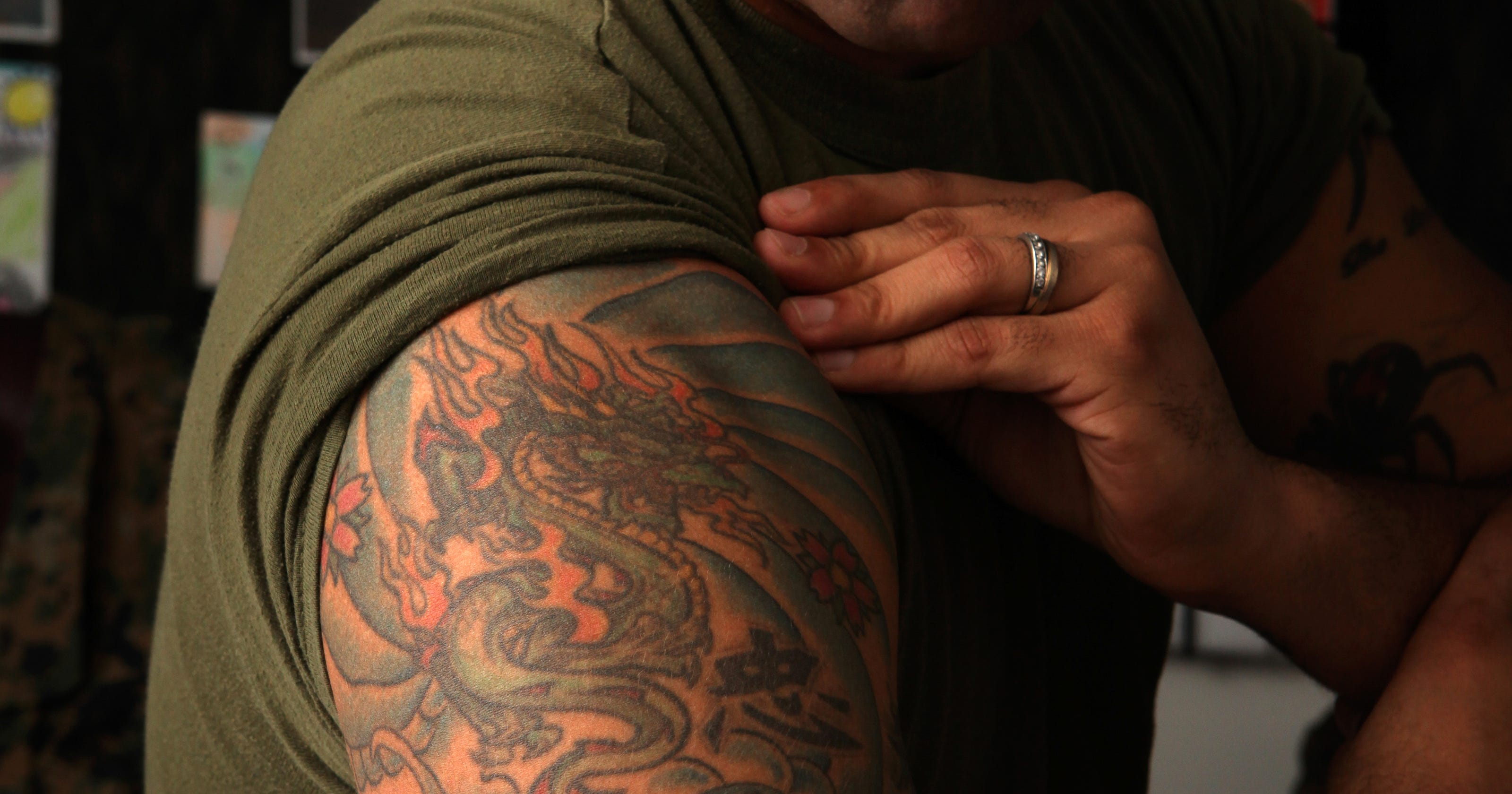 Marine corps to update its tattoo policy after review for Marine corps tattoo regulations