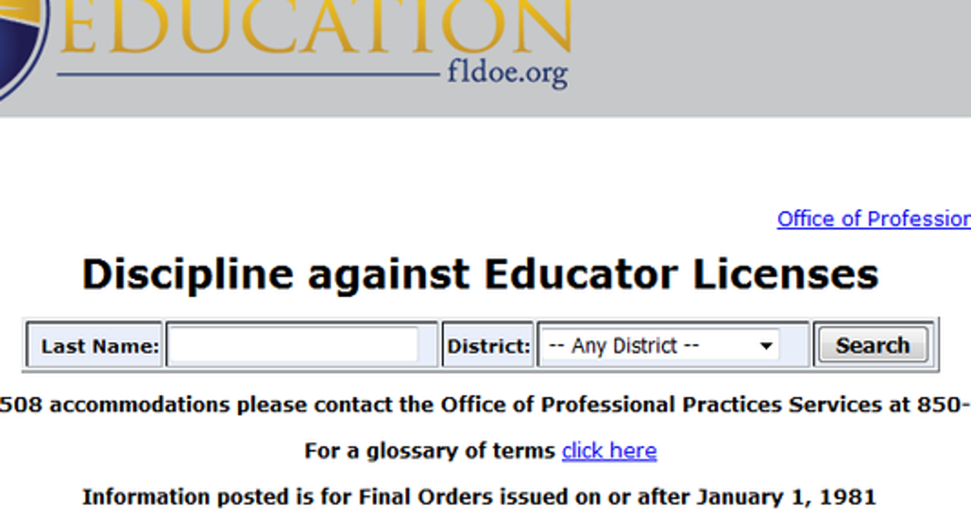 Database Allows Users To Easily See Doe Teacher Discipline