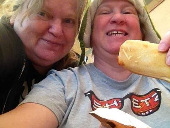 Edna Mikos, left, died in a crash over the weekend.