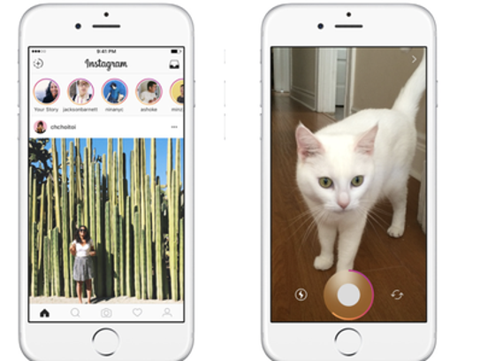 Instagram gained popularity on the iOS app store before
