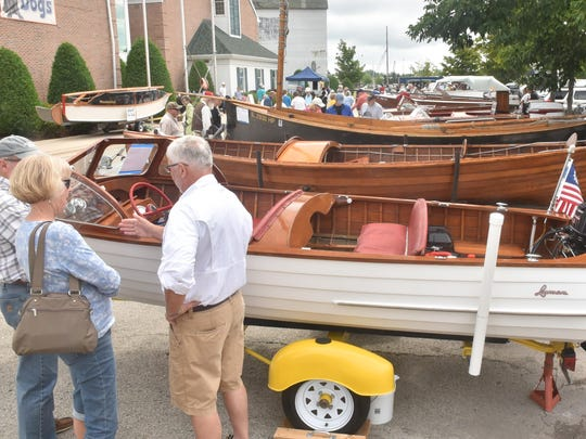 Guests check out some of the vessels at last year's Door County Classic and Wooden Boat Festival. This year's festival will be held Aug. 12-13 at the Door County Maritime Museum in Sturgeon Bay.
