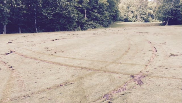 The teen's joyride damaged two acres of the golf course, said Drew Macke, owner.