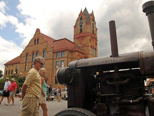 A 1935 tractor was one of the offbeat features, also including a few classic boats, at the Day B-4 Father's Day Car Show in downtown Anderson.