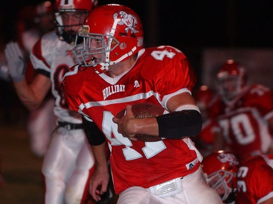 Holliday's Colin Leggett is one of only four area running backs who've surpassed the 2,500-yard mark since 2000. Petrolia's Ross Harrison plus Hirschi's Cedric Battle and Daimarqua Foster are the others.