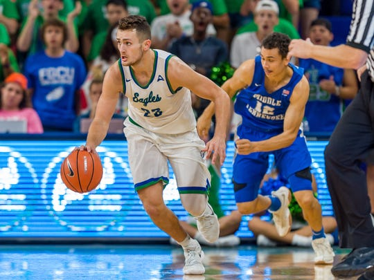 Sophomore guard Christian Carlyle has given FGCU big lifts this season. In his second start, Carlyle had 18 points in Saturday night's home loss against Middle Tennessee.