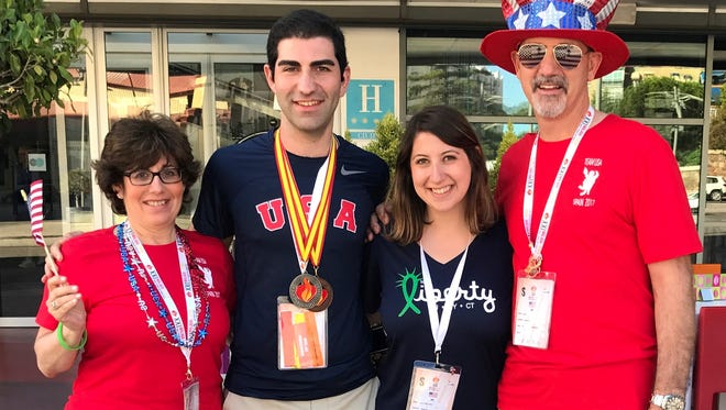 With his family, Joe DiSanto, 22, who grew up in Hillsborough, recently joined more than 2,500 individuals who also received lifesaving transplants at the 2017 World Transplant Games.