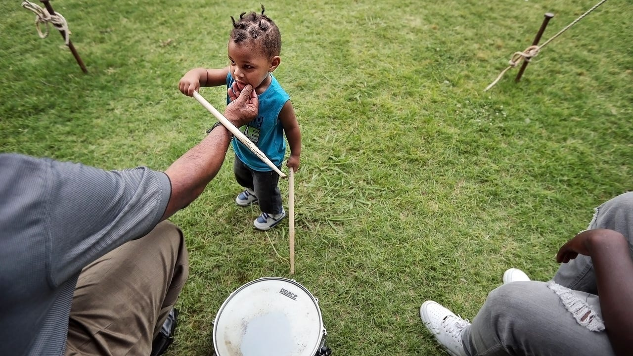 Live music, crafts, and rides draw a diverse crowd to Robert R. Church Park Sunday during the final day of the Memphis Juneteenth Urban Music Festival.