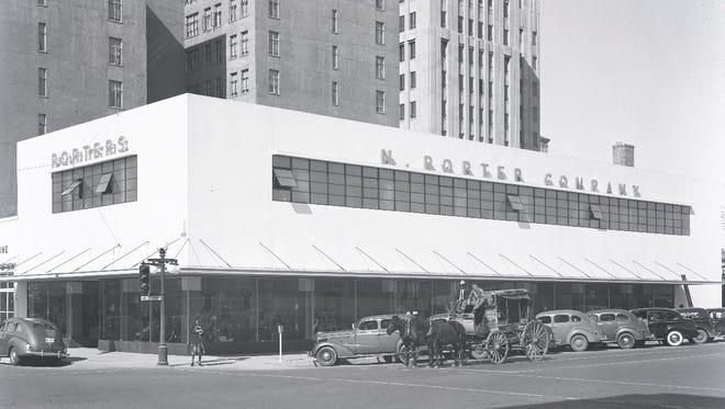 Porter's Western Wear store, 1940s.