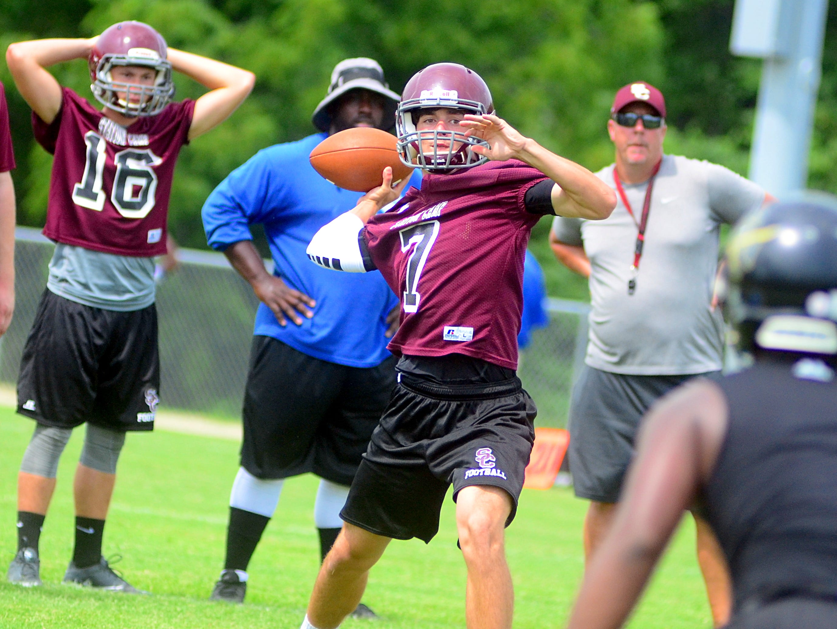 Station Camp High senior Tyler Thompson returns at quarterback for the Bison after missing the final four games of last season with a knee injury.