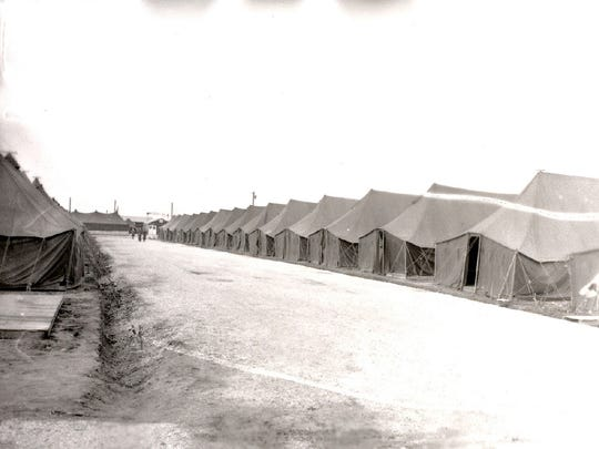 A row of the troop tents at Camp Haven.