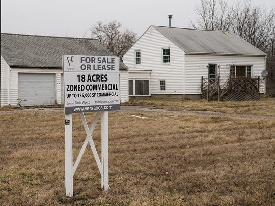 The property sits at the northeast corner of Milford Road and Ten Mile Road.