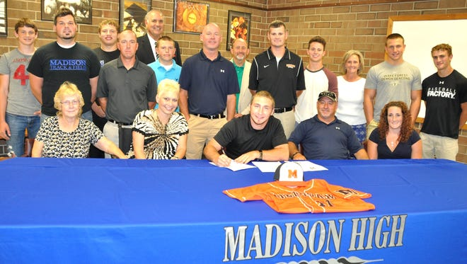 Madison senior Tyler Rogers has signed to play college baseball for Milligan (Tenn.).