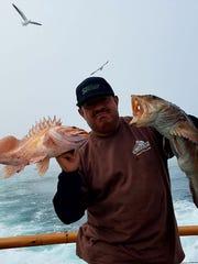 Manuel Ortiz of Santa Paula caught a 12-pound lingcod