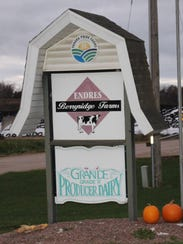 A sign outside of Jeff Endres displays the Yahara Pride