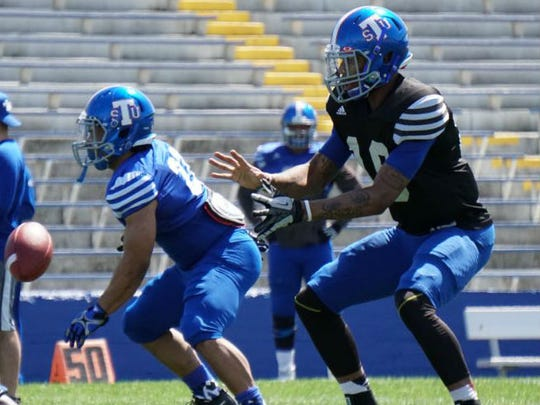 Former Minnesota quarterback Demry Croft is making a bid in the spring to take over as Tennessee State's starting quarterback.