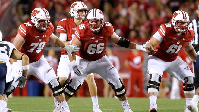 The Badgers will be counting on an experienced and versatile offensive line this season.