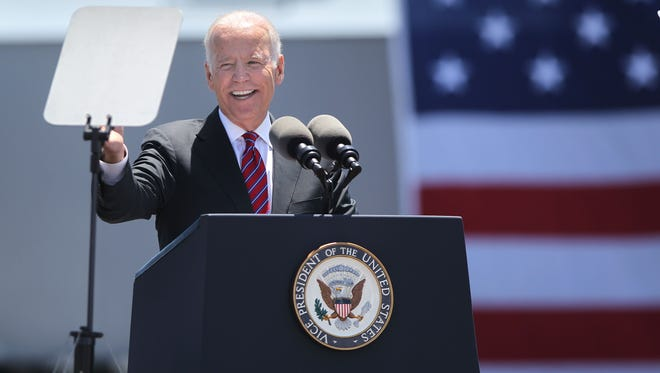Vice President Joe Biden speaks on trade enforcement at the Unified Port of San Diego on Wednesday. The Democratic National Convention lineup of speakers was announced Friday.