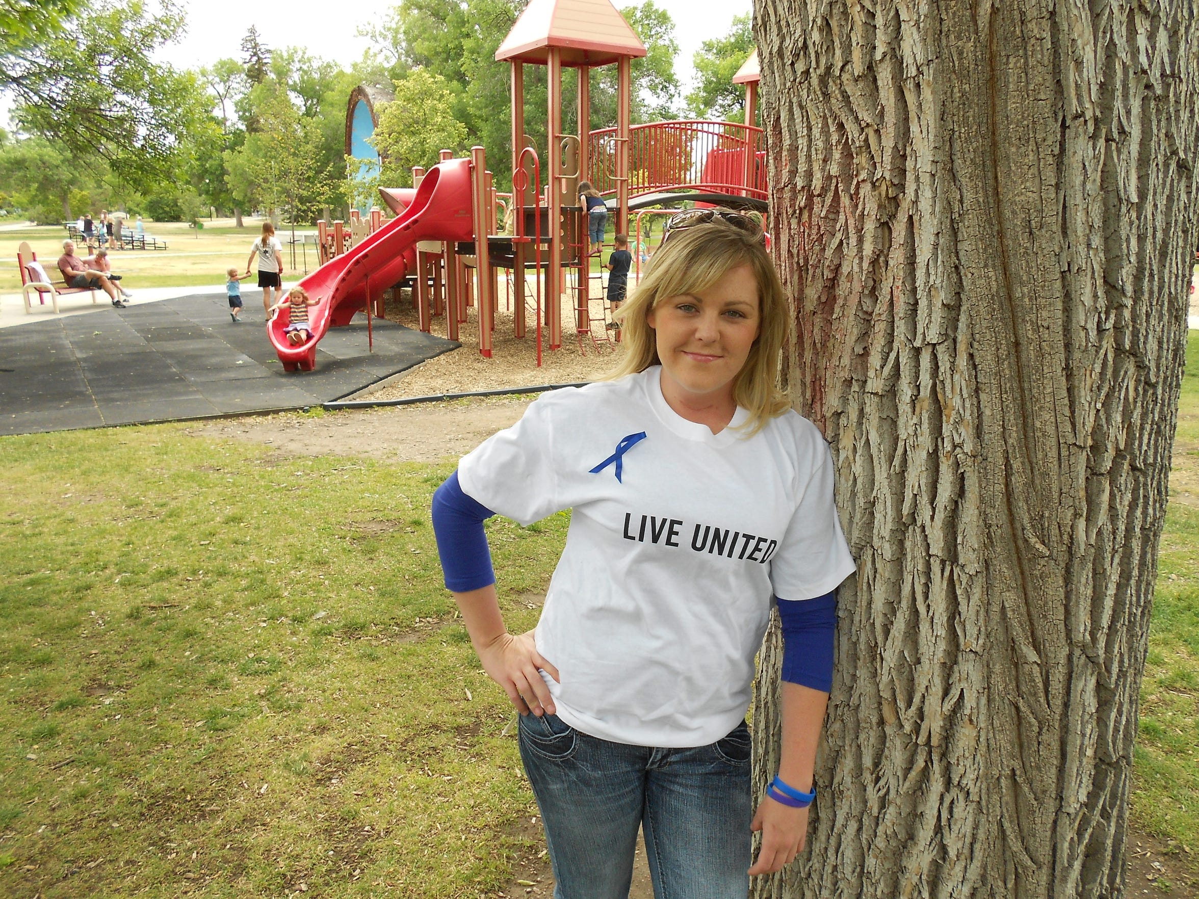 Jessica Bray, the founder of the Dandelion Foundation, a local nonprofit that seeks to end child abuse in Great Falls.