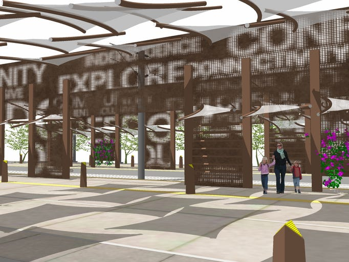 Dig's concept for the proposed light rail station focuses