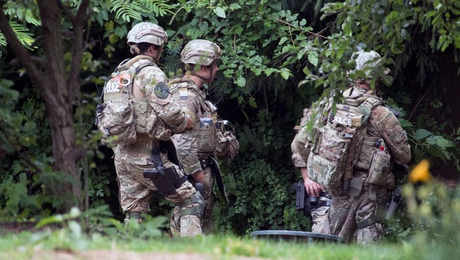 Police in tactical gear responded to a standoff in the 300 block of Wynwood Road in Springettsbury Township.