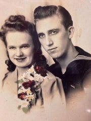 An early photo of Lloyd and Elaine Valnes. Dec. 23 would have been there 74th anniversary.