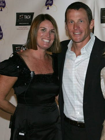 Stephanie McIlvain and Lance Armstrong at a 2008 benefit
