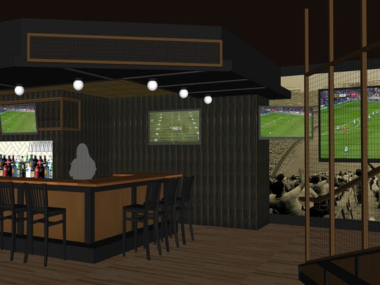 "Owner Mike Eitel thinks of his sports bar as ""a celebration"