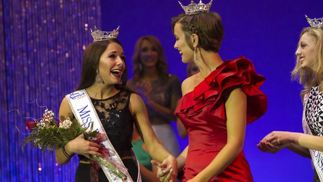 Miss Green Bay Area Courtney Pelot wins the title of Miss Wisconsin 2016 on Saturday, June 25, 2016, during the Miss Wisconsin Scholarship Pageant at the Alberta Kimball Auditorium in Oshkosh.