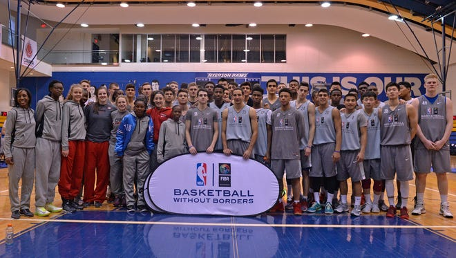 A photo from Basketball without Borders Global Camp.
