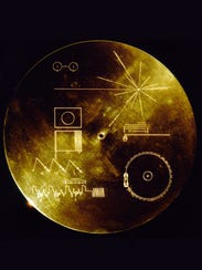 A 12-inch gold plated copper disc, known as the Golden