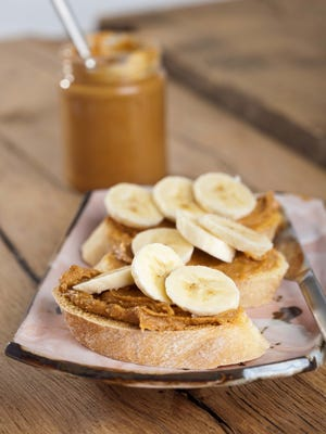 Try gilling a peanut butter and banana sandwich.