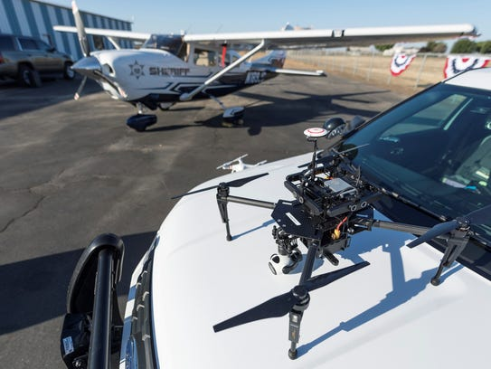 Tulare County Sheriff Department's drones were on display