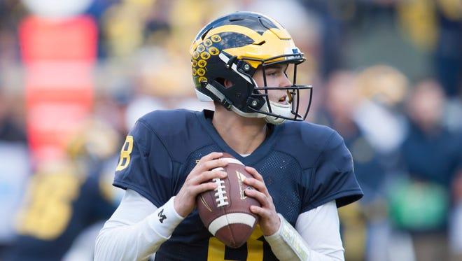 Michigan quarterback John O'Korn