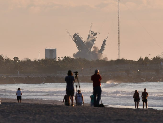 The launch towers at  Cape Canaveral's Launch Complex