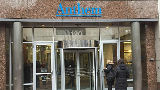 Anthem headquarters on Monument Circle in Indianapolis.