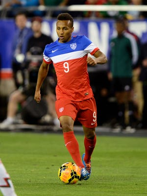 Julian Green made his first appearance for the U.S. national team against Mexico.