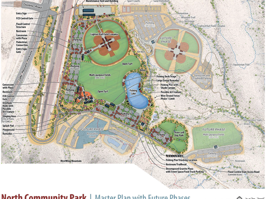 The 120-acre community park is scheduled to open in Peoria in May 2020. Construction is planned to kick off after the summer of 2018.