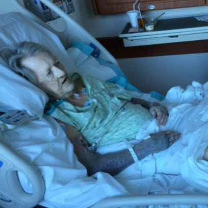 Karma Gleason was taken to the hospital three days