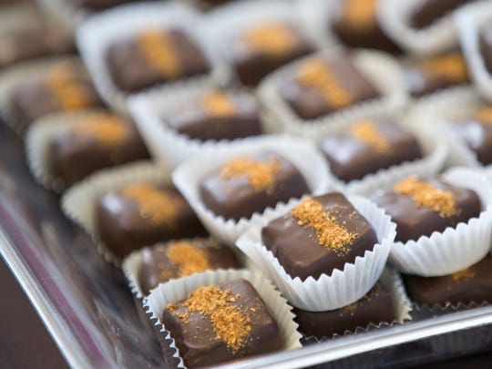Double Chocolate Habanero Caramels by Literally Devine, at the day's Chocolate Fest Indy, at the Dallara IndyCar Factory, Indianapolis, Saturday, October 17, 2015. The event benefits various local arts in education programs.