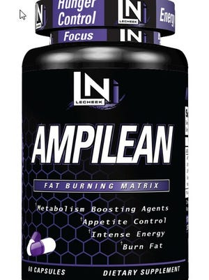 AMPilean, marketed by Lecheek Nutrition as a fat burner, lists AMP Citrate among its ingredients.