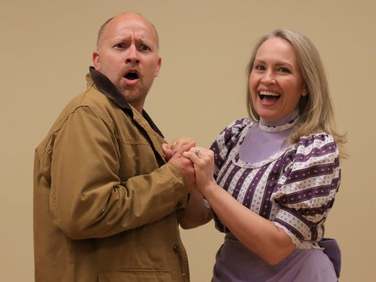"""John Kessler plays Jacob and Chrissy Rogers plays Jenny in """"The Great Circus Caper."""""""