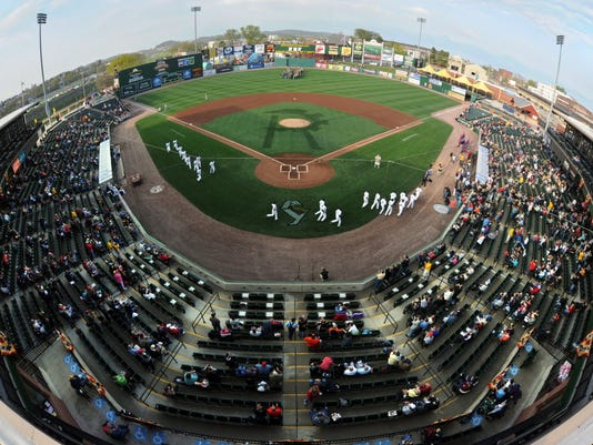 Sovereign Bank Stadium will be renamed Santander Stadium as part of a rebranding effort by the bank's ownership. (York Daily Record -- file)